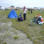 今年のテントサイトは3コマ取った。