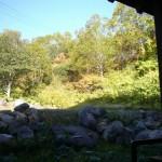 露天風呂からの景色。