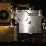 CPUクーラー固定ネジの場所