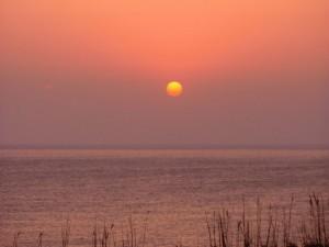 天海珈琲から見た夕陽