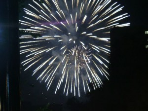 豊平川花火大会での花火