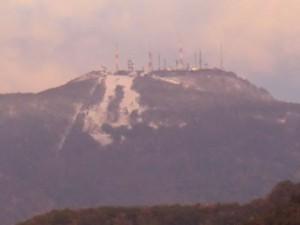 手稲山の初冠雪