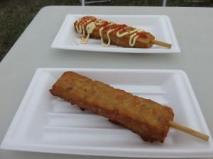 RSR会場で食べた大八栗原蒲鉾店の「お祭り棒天」。