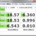 NTFSで測定した結果
