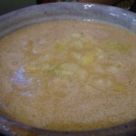 つけ麺の「トン塩」スープ