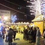 ミュンヘン・クリスマス市 in Sapporo 2011の飲食店ブースの前
