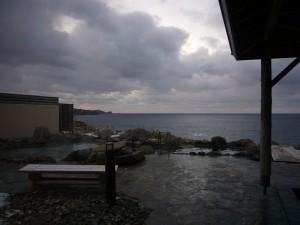 2007年12月に行った際の露天風呂(男性用)