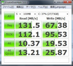 SSDのベンチ結果