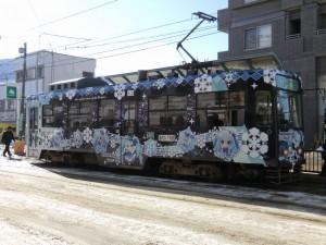 2012年の雪ミク電車