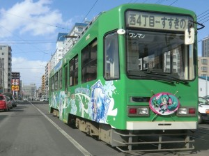 2011年の雪ミク電車