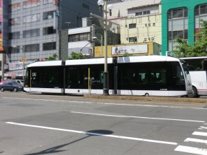 札幌市電に新規に導入され運行を始めていたA1203号車。