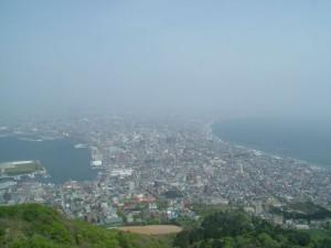 昼間に見た函館の景色。