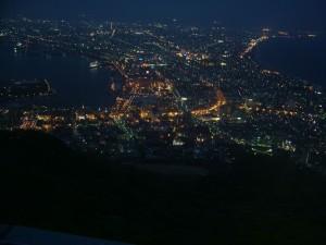 函館山山頂から観た函館の夜景。