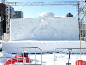 2015年バージョンの雪ミクの雪像