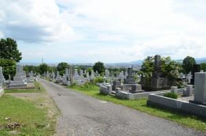 旭川の墓地から市内方向を18mmで撮った写真