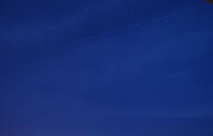 8/3 19時過ぎに通過したISSの軌跡