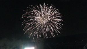 今年の花火の中でラスト近くに上がった大きめの花火