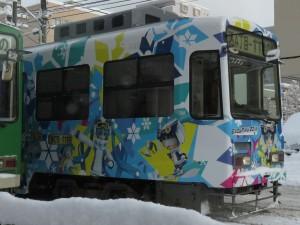今年(2015-2016)の雪ミク電車
