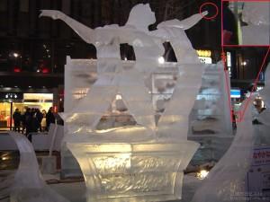 2/9夜に撮影した氷像