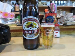 「ます酒」さんで出て来たビール。