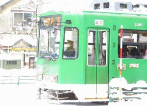 LED化された札幌市電3301号車