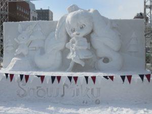 2020年の雪ミク雪像