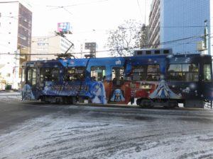 2020-2021シーズンの雪ミク電車